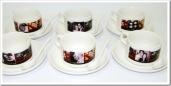Kit xícaras de chá perosnalizadas